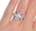 Timeless Diamond Sapphire Unique Ring
