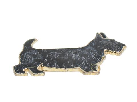 Woof - Vintage Scottie Dog Silver Brooch