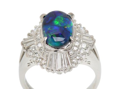 Excitement - Black Opal Diamond Ring