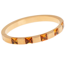 Chic Vibe - Citrine Bangle Bracelet