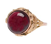 Organic Inspiration - Art Nouveau Garnet Ring