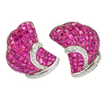 Invisibly Set Ruby Diamond Earrings