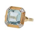 RetroFabulous - Aquamarine Diamond Ring