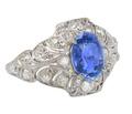 Antique No Heat Sapphire Diamond Ring