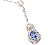 Gems Delight - Sapphire Diamond Necklace