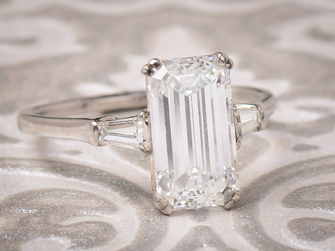 Magnificent 3.01 Cart D IF Diamond Ring
