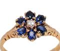 Flirt - Sapphire Diamond Halo Ring
