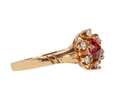 Double Pointed Garnet Antique Ring