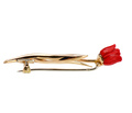 Fred Joaillier Red Coral Tulip Brooch