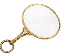 Victorian Magnifying Glass in Gold