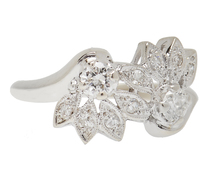 Gentle Curves - Diamond Flower Ring