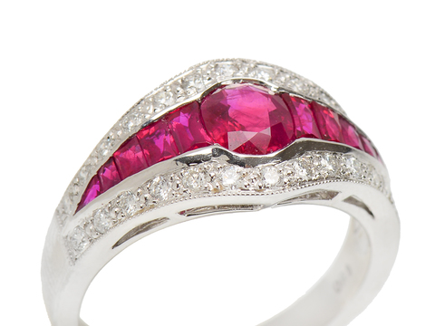 Color Rush - Ruby Diamond Ring