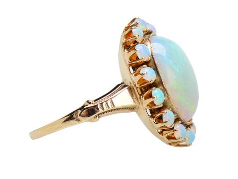 Celestial Halo - Vintage Opal Ring