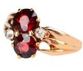 Art Nouveau Pyrope Garnet Diamond Ring