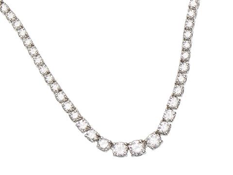 Elegant Diamond Riviere Necklace