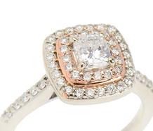 Diamond Double Halo Engagment Ring