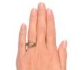 Victorian Gypsy Set Antique Diamond Ring
