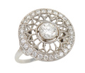 Surround of Fire - Diamond Cluster Ring