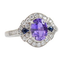 Passion - Purple Sapphire Diamond Ring