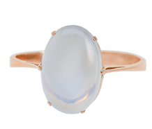 Edwardian Sense - Solitaire Blue Moonstone Ring