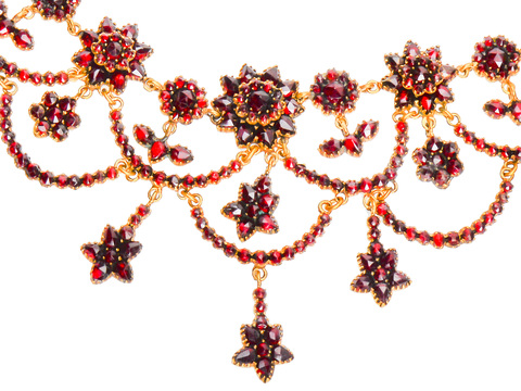 Bohemian Garnet Necklace - Victorian Festivities