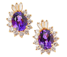 Bewitching Amethyst Diamond Earrings
