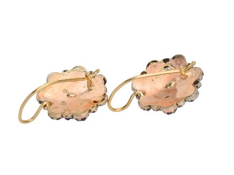 Boho Beauty - Antique Bohemian Garnet Earrings