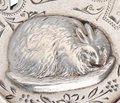 Antique Silver Rabbit Pendant of 1894