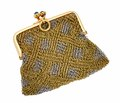Fabulous Heavy French Vintage Gold Mesh Purse