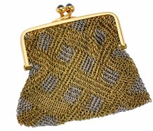 Fabulous French Vintage Gold Mesh Purse