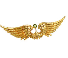 French Art Nouveau Wings of Love Brooch
