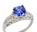 Curvaceous Sapphire Diamond Engagement Ring