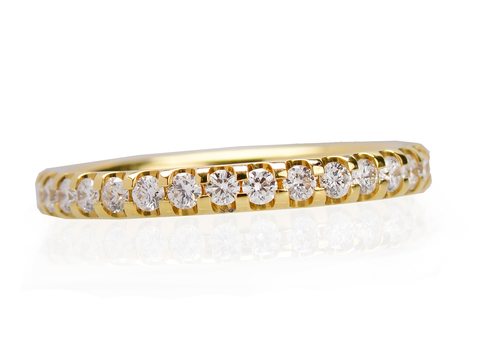 Full Diamond Eternity Band in Yellow Gold