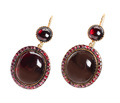 Antique Garnet Drop Earrings