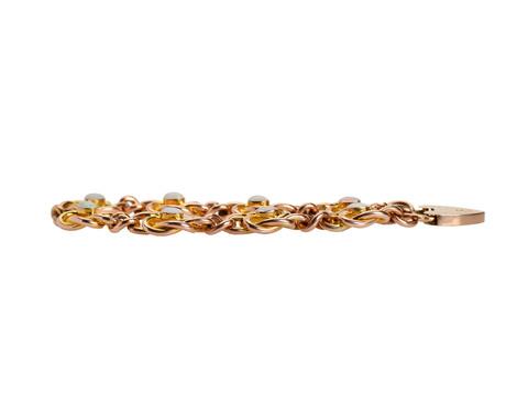 Vintage Two Tone Gold Opal Bracelet