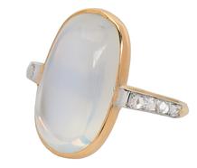 Nirvana - Edwardian Blue Moonstone Diamond Ring