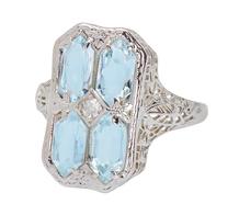 Skyfall - Vintage Aquamarine Ring