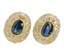 Solar Eclipse - Sapphire Diamond Earrings