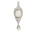 Baroque Sensation - Antique Diamond Pearl Pendant