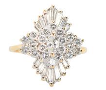 Make My Day  - Diamond Ballerina Style Ring