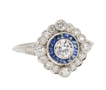 Swoon - Unique Sapphire Diamond Ring