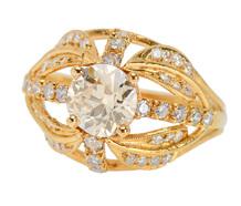 Gothic Dome - Signature Diamond Ring