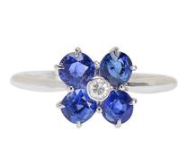 Mediterranean Blue - Sapphire Diamond Ring