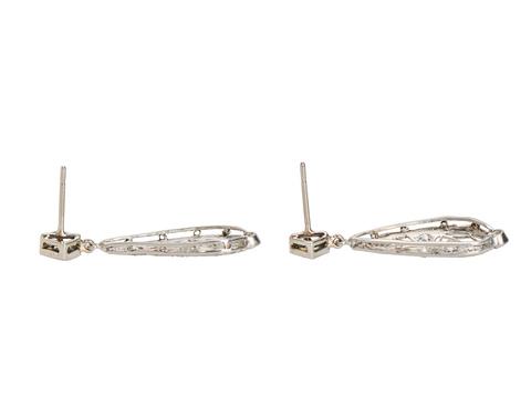 Lacy Filigree Teardrop Antique Earrings