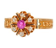 Victorian Ruby Diamond Ring