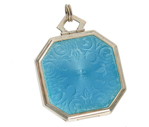 Art Deco Enamel Silver Locket