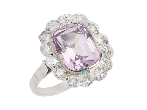 Feminine Flair - Pink Topaz Halo Ring
