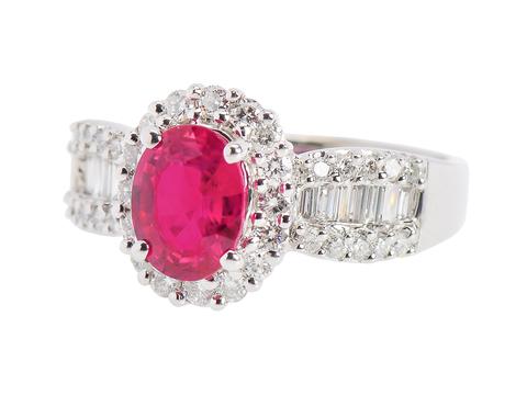 Glorious Dvani Ruby Diamond Ring