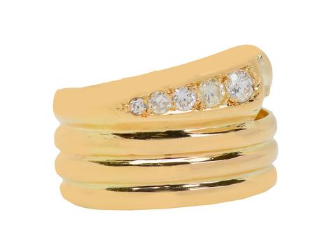 Antique Diamond Set Snake Ring of 1910