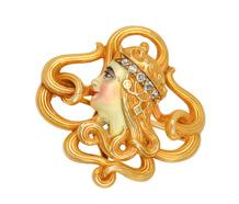 Art Nouveau Femme Fatale Brooch